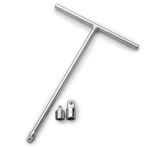 """T-Handle Driver 3/8"""" with 2 Adapters"""