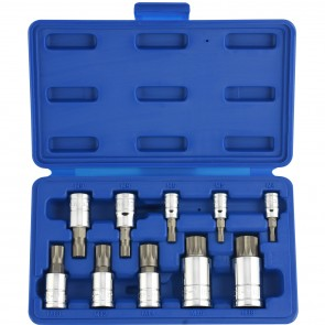 XZN Triple Square Spline Socket/Bit Set - Type 1 | 10 Pc