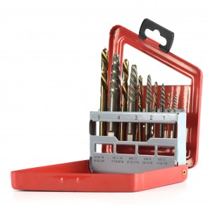 Extractor/Left-Hand Drill Bit Set | 10 Pc