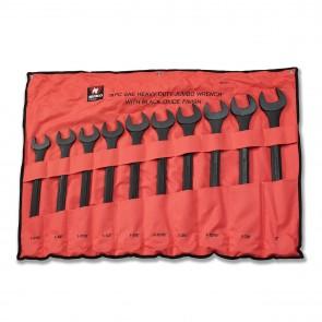Black Oxide Jumbo Combination Wrench Set - SAE | 10 Pc