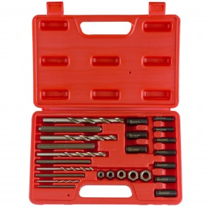 Screw Extractor/Drill & Guide Set | 25 Pc