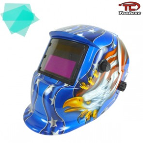 Auto Darkening/Solar Powered Welding Helmet - American Eagle Design | TIG/MIG