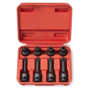 XZN Tamper Proof Impact Triple Square Spline Socket/Bit Set | 8 Pc