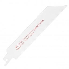 "Bi-Metal Demolition Reciprocating Saw Blade 6"" x 18T"