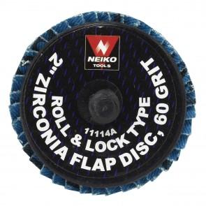 "Zirconia Rolok Flap Disc 2"" - 60 Grit | 10 PK"