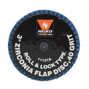 "Zirconia Rolok Flap Disc 3"" - 40 Grit | 10 PK"