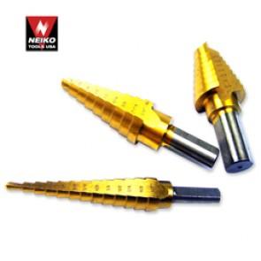 """Titanium Step Drill Bit 13/16"""" to 1 3/8"""" - 1/16"""" Increment"""