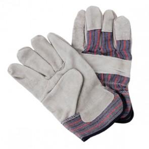 Cow Split Leather Gloves Large - Purple