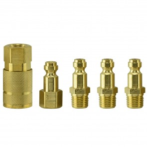 "1/4"" Air Coupler Kit 1/4"" Male + Female NPT - Truflate Type 