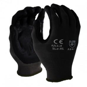 Latex Coated Gloves Medium - Black | 13 Gauge