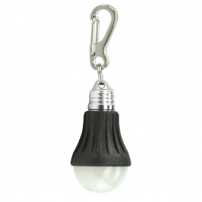 Light Bulb Keychain - Black