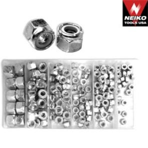 Nylon Lock Nut Assortment | 150 Pc