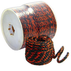 "Rope 3/8"" x 600' - Black/Orange"
