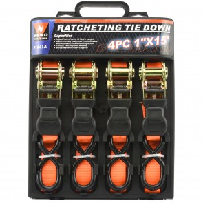 "Ratcheting Tie Down Set 1"" x 15' - Type 1 