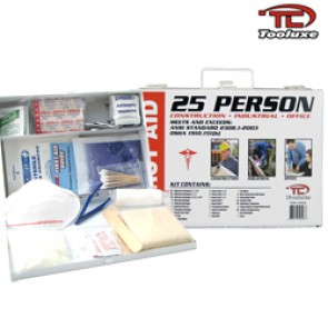 First Aid Kit - Metal Box | 25 Person