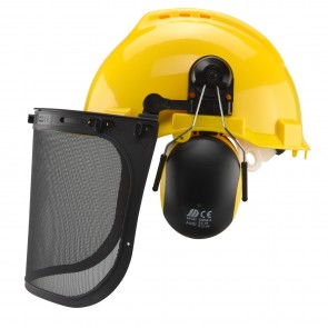 Safety Helmet With Hearing and Face Protection | 4 in 1