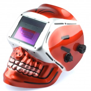 Auto Darkening/Solar Powered Welding Helmet - Skeleton Design | TIG/MIG
