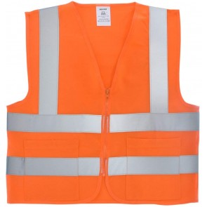 Safety Vest Large - Orange Knit | 2 Pockets