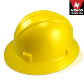 Safety Helmet with Full Brim - Yellow | ANSI Z89.1