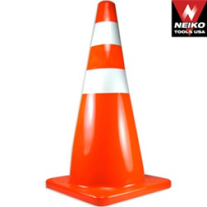"Safety Cone 28"" - 2 Reflective Stripes"