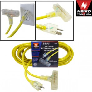 Extension Cord 12/3 Gauge - Yellow | 50'