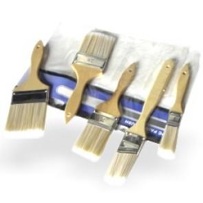 Paint Brush Set - Wood Handle | 5 Pc