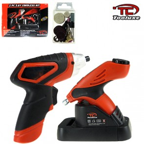 Cordless Mini-Grinder and Mini-Screwdriver Kit - 3.6 Volt | 2 Pc
