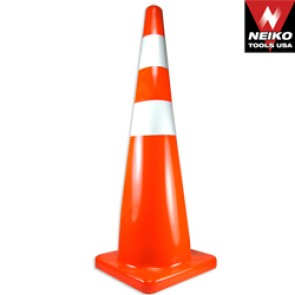 "36"" Safety Cone with 2 Reflective Strips"