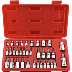 "Demeter Tools Torx/E-Socket Socket/Bit Set 1/4"", 3/8"" & 1/2"" Drive | 35 Pc"